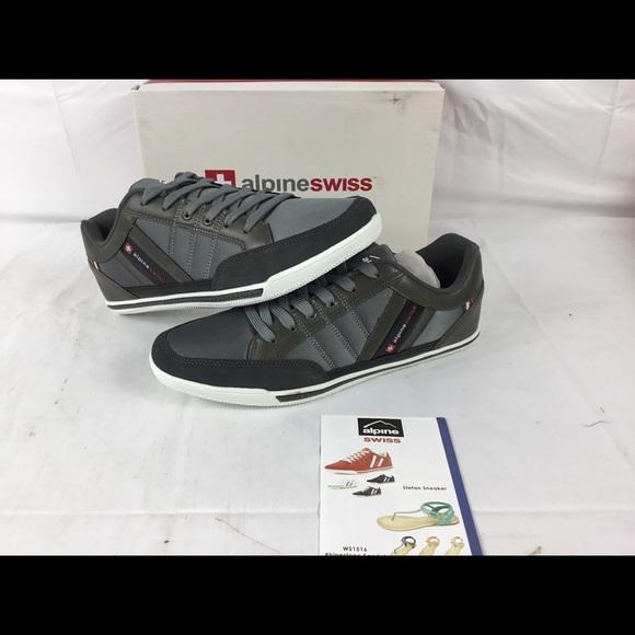 deb810f8bb30 Alpine Swiss Stefan Mens Retro Sneakers Sz 13